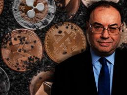 El gobernador del Banco de Inglaterra considera que las criptomonedas son peligrosas.